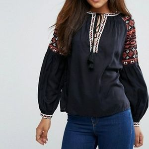 Y.A.S. embroidered blouse